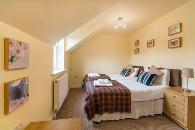 The Landings, Whitby. Twin bedroom