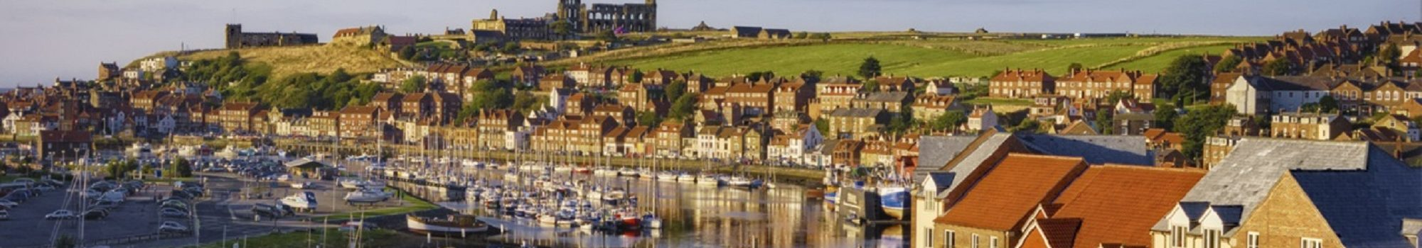 Whitby town and river Esk