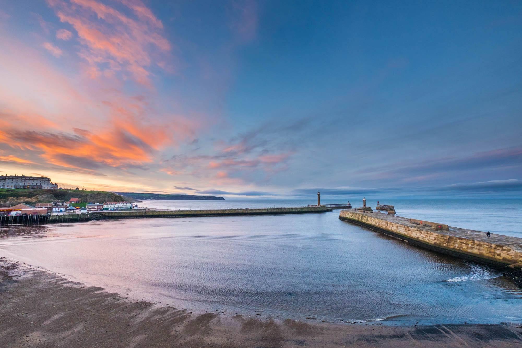 Sunset Whitby Pier
