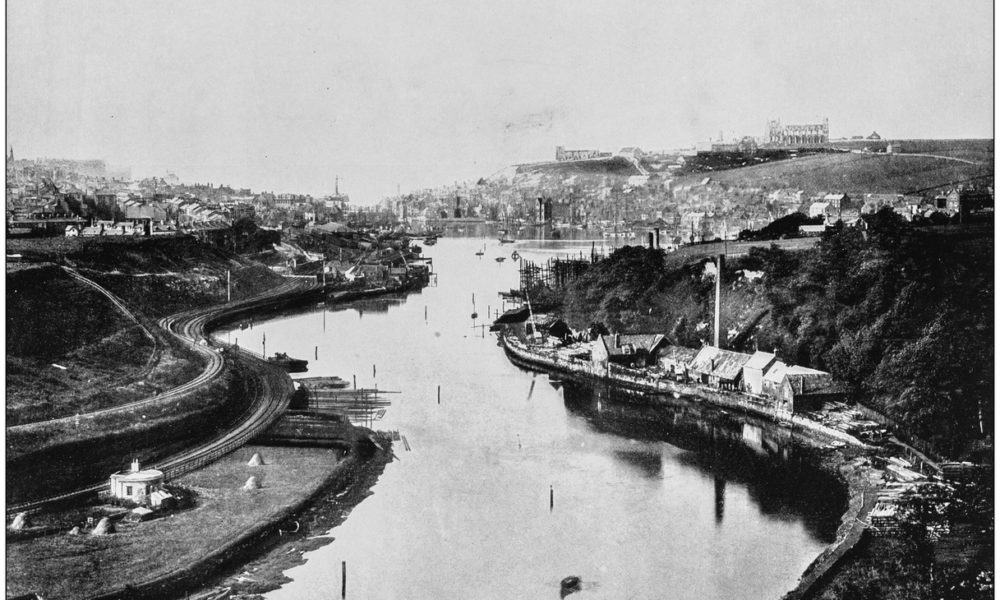 Antique photograph of seaside towns of Great Britain and Ireland: Whitby