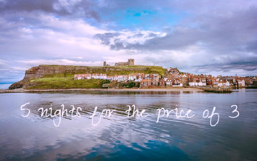 Whitby holiday cottages, 5 nights for the price of 3