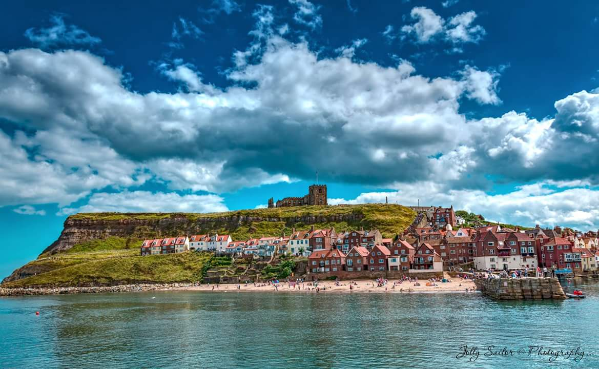 Beautiful Sunny Whitby Beach and Abbey