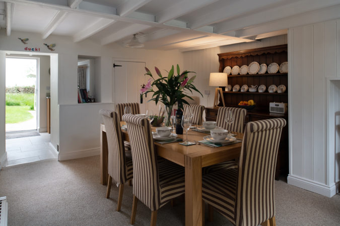 Great place to share dinner with family or friends in Chapel Cottage, Lythe