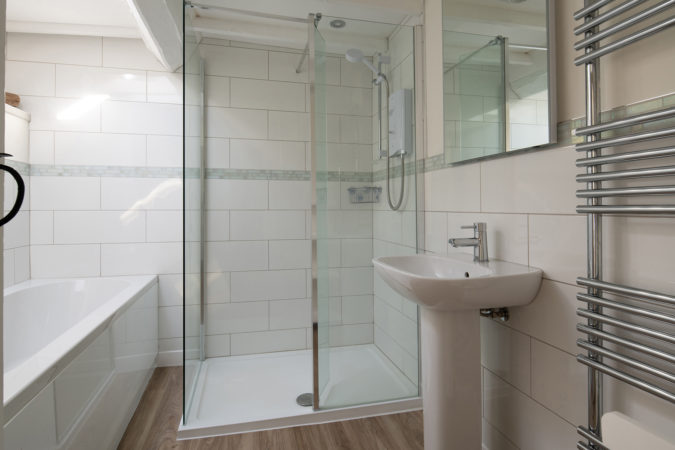 Spacious shower room at Chapel Cpttage near Whitby