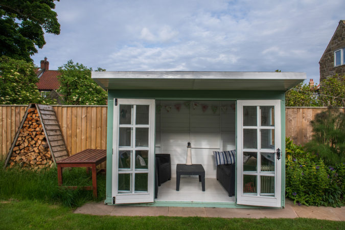 Lovely summer house to sit it in the not too warm days